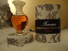 """VINTAGE 1980's parfum """"FEMME""""  PARFUMS ROCHAS, e 15 ml.,1/2 fl.oz., RARE PARFUM"""