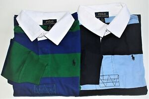 Boys Ralph Lauren Cotton Striped Rugby Shirt - 2 yrs to 14-16yrs  CLEARANCE