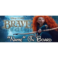 Disney Brave Personalised Baby On Board Car Sign (2)