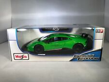 Lamborghini Huracan Performante 1:18 Diecast Model Car Rare Brand New In Green