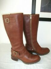 STUNNING TIMBERLAND RICH BROWN LEATHER LONG BOOTS SZ 7 UK GOOD CONDITION