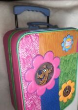VIntage Scooby Doo Rolling Childs Suitcase Extendable Handle Carry On Luggage