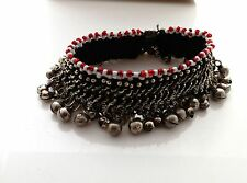 """Vintage Kuchi Jingling Anklet Tribal Belly Dance Jewelry Ethnic Afghan 9.5"""""""