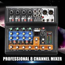 Portable Pro 8 Channel Live Studio Audio DJ Sound Mixer USB Mixing Console