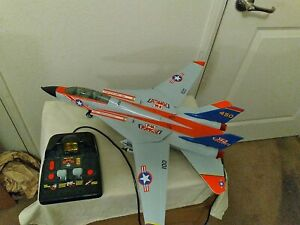 Vintage 1990 New Bright Grumman F14 Tomcat Corded Remote Control Fighter Jet