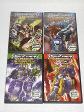4 DVD Transformers Energon Battle Return Megatron Shockblast unleashed Omega Sup