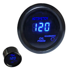 HS Car Motor 2 1/16 Inch 52mm Digital LED Electronic Oil Pressure Gauge+Sensor