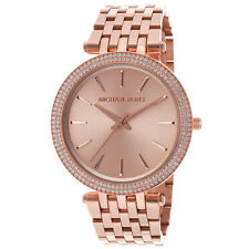 New Michael Kors Darci Rose Gold Tone Stainless Steel MK3192 Women Glitz Watch