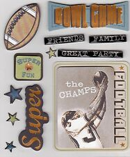 *SUPER BOWL PARTY* K & Company Dimensional Stickers  - Sport - Football - Champs