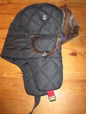 JOULES Vermont Quilted Sherpa Faux Fur Trim Trapper Hat Sz S / M FreeUKP&P