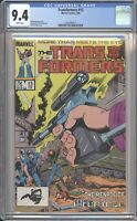 Marvel Comics TRANSFORMERS #13 CGC 9.4 NM (1986) White Pages