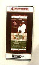 2011 Commemorative Collectors Ticket, Game 7, 2011 World Series, Cardinals