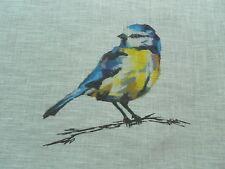 Harlequin Curtain Fabric PERSICO 3.65m - 100% Linen Voile - British Birds Design