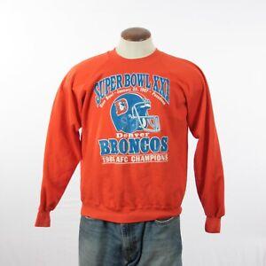 1987 Vintage LARGE Super Bowl XXI Denver Broncos 1986 AFC Champions Sweatshirt
