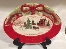 Fitz And Floyd Sentiment Tray Home Warms The Heart original box