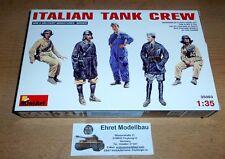 WWII italiana Equipaggio Carro Armato Tank Crew 5 figure 1:35 MINIART 35093