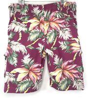 Vintage 90s Polo Ralph Lauren Hawaiian Floral Cargo Shorts Size 40, 13 pockets
