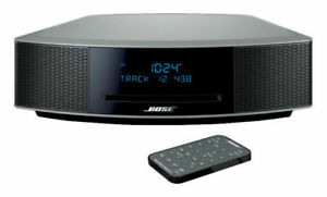 New Bose Wave Music System IV with Remote, CD Player and AM/FM Radio - Silver