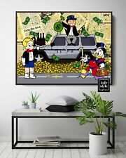 More details for monopoly x scrooge x richie rich (poster print) alec inspired - pop wall art