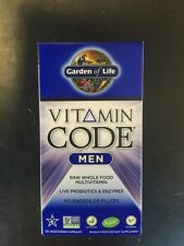 Garden Of Life Vitamin Code Men 120 Capsules Whole Food Multivitamin Gluten FREE