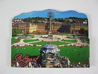 Stuttgart Schwaben Germany,2D Holz Magnet,Souvenir Deutschland,neu