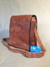 "Handmade Leather 13"" Laptop Bag FMT+ A4 Flap Padded MacBook Billy Goat Designs"