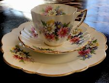 """VICTORIA C&E Bone China Made In England Cup, Saucer And 8"""" Plate. Vintage"""