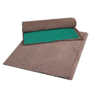 VETFLEECE Heavy Duty Greenback Whelping Fleece Bed Puppy Vet Pro Bedding Brown