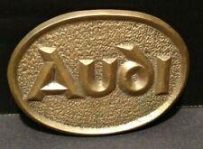 Audi Belt Buckle Vintage Solid Brass Auto Collectible BT6
