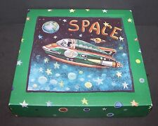 "Outer Space Wall Hanging Picture Rocket Ship Decoration 10"" Bedroom Decor Kids"