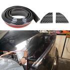 1.5m Universal Car Carbon Fiber Front Bumper Lip Splitter Chin Spoiler Body Trim