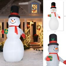 🎄Holiday Time 10 FT Giant Snowman Inflatable with Lights 🌟HUGE🌟