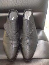 Rundholz Black Leather Oxford Wingtip  Slides Shoes US 9 ( EU 40 )