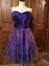 Cocktail Prom Dress  Short Tony Bowls Dark/light Purple Stunning Size 4 Reduced