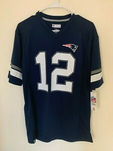 Tom Brady New England Patriots Majestic NFL Hashmark Player Name&Number T shirt