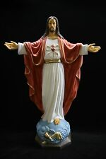 Blessing Sacred Heart of Jesus Christ Italian Catholic Statue Sculpture Italy