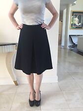 Miu Miu Black A- Line Wool & Mohair Lined  Skirt Made In Italy Size It 40 Us 4-6