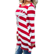 Christmas Women Ladies Long Sleeve Loose Casual Dress Swing Skater New Plus Size