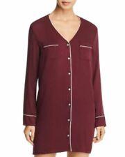 Splendid Rayon Sleepshirt Wine Long Sleeved Size Small
