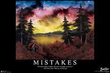 BOB ROSS - MISTAKES - INSPIRATIONAL ART POSTER 24x36 - 3114