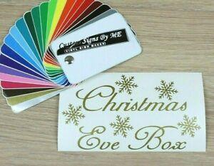Personalised Christmas Eve Box Sticker Vinyl Decal Adhesive DARK GOLD