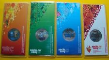 Russia 2014 2011 2012 2013 Set 4 colored coins 25 Rubles Olympic Winter Games