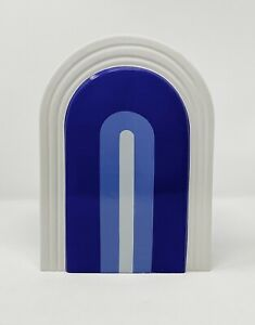 Now House By Jonathan Adler Vase Arches Blue Art Deco Handmade Amazon Sold Out