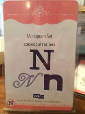 "NEW Quickutz / Lifestyle Crafts ""Monogram N"" (3 Die Set) Cookie Cutter Dies Die"