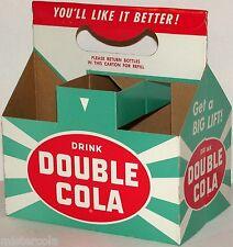 Vintage soda pop bottle carton DOUBLE COLA Get a Big Lift slogan unused n-mint+