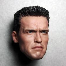 1/6 Scale Terminator 2 Arnold Schwarzenegger Head Sculpt For 12'' HT PH Hot Toys