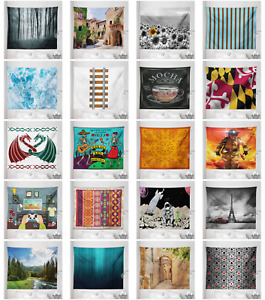 Tapestry Digital Print Wall Hanging Microfiber Fabric with Rod Pocket by