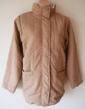 Womens Coat Size 10 / 12 New Ladies Light Brown 2 in 1 Jacket Gillet Quilted mt