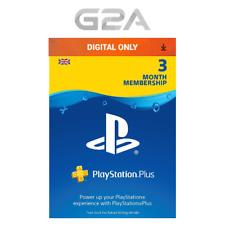 Playstation Plus 90 Days UK Card - PSN 90 Days Code- 3 Month Membership SONY Key