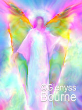 ARCHANGEL GABRIEL Guardian Angel Art. Angel Painting on Canvas by Glenyss Bourne